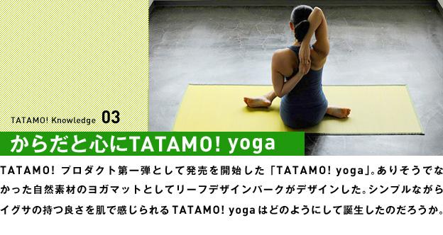 からだと心にTATAMO! yoga